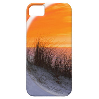 Glass sphere reflecting orange sunset iPhone 5 cover