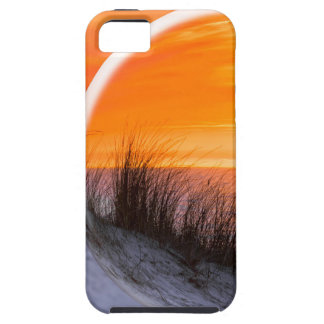 Glass sphere reflecting orange sunset iPhone 5 covers
