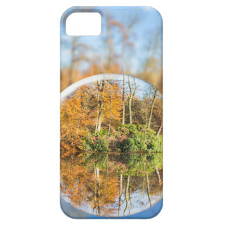 Glass sphere with autumn nature reflection in it iPhone 5 cases