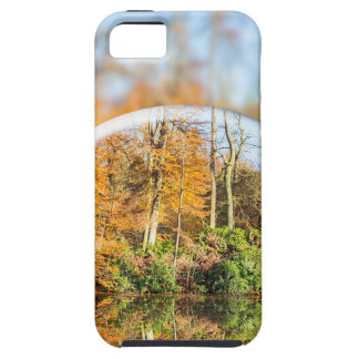 Glass sphere with autumn nature reflection in it iPhone 5 cover