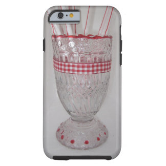 Glass straw holder red  iPhone / iPad case