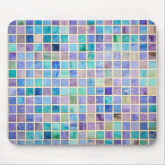 Glass Tile Mosaic cool modern colorful Mouse Pad