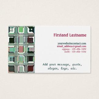 Glass Tiles Mosaic Customizable Business Cards