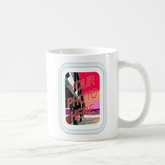 Glass Tube Frame Template Coffee Mug