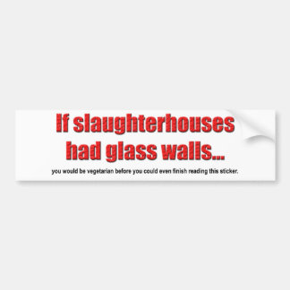 Glass Walls Bumper Sticker