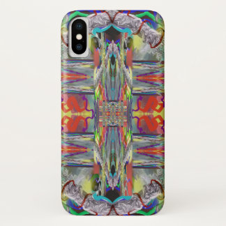 Glass Weaving Abstract Plaid Look Design iPhone X Case