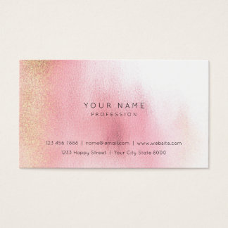 Glass White Pink Rose Gold Peach Ombre Stylist Vip Business Card