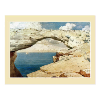 Glass Window, Bahamas by Winslow Homer Postcard