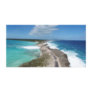 Glass Window Bridge in Eleuthera Canvas Print