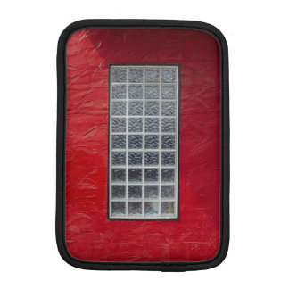 Glass Window on a Red Wall Sleeve For iPad Mini