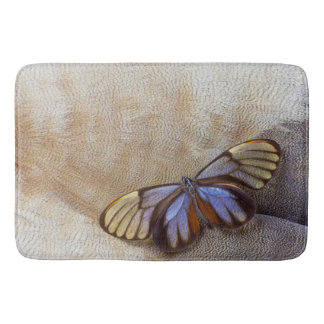 Glass-wing Butterfly Egyptian Goose Feather Bath Mat