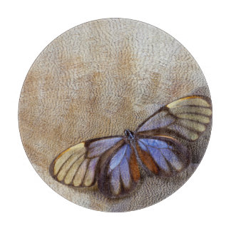 Glass-wing Butterfly Egyptian Goose Feather Cutting Board