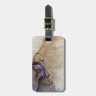 Glass-wing Butterfly Egyptian Goose Feather Luggage Tag