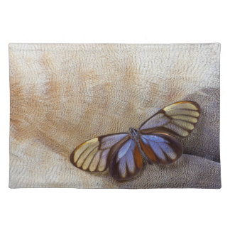 Glass-wing Butterfly Egyptian Goose Feather Placemat