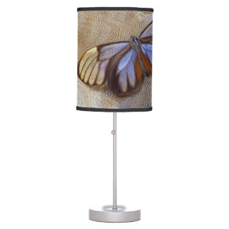 Glass-wing Butterfly Egyptian Goose Feather Table Lamp