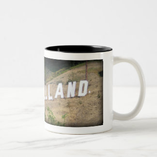 Glassellland Sign in Glassell Park, California Two-Tone Coffee Mug