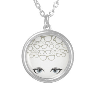 Glasses4 Silver Plated Necklace