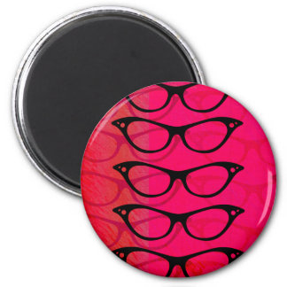 Glasses 2 Inch Round Magnet