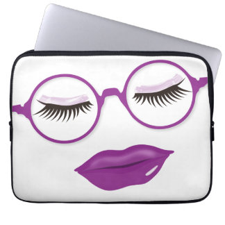 Glasses are Pretty in Purple 13in Laptop Sleeve