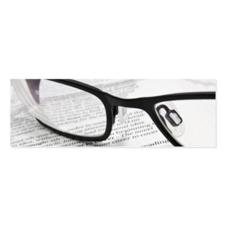Glasses & Book with Social Network icons Bookmark Business Card Templates