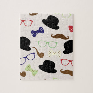 Glasses, Hats and Mustache Jigsaw Puzzle