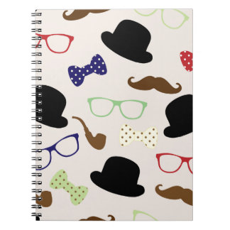 Glasses, Hats and Mustache Notebook