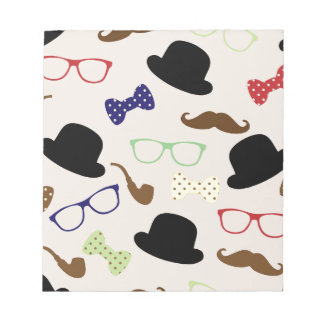 Glasses, Hats and Mustache Notepad
