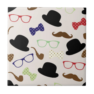 Glasses, Hats and Mustache Tile
