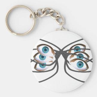 Glasses Image Keychain