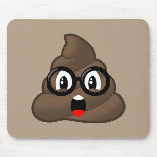Glasses Oh Poop Emoji Mouse Pad