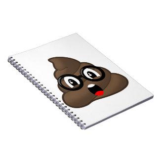 Glasses Oh Poop Emoji Notebook