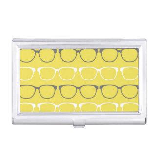 Glasses Pattern Business Card Holder