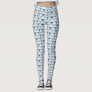 Glasses Pattern Nerd Leggings