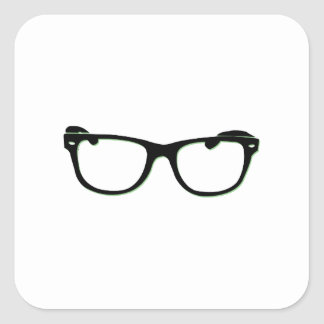 Glasses Square Sticker