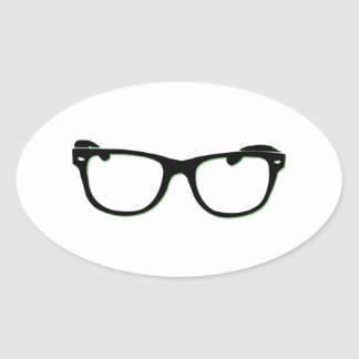 Glasses Oval Stickers