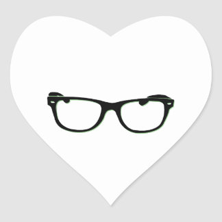 Glasses Heart Stickers