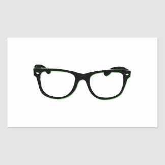 Glasses Rectangle Stickers