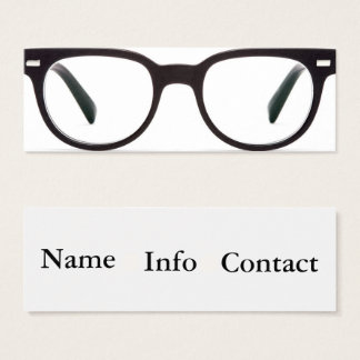 glasses vision optometry business card