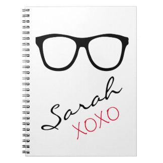 Glasses XOXO Name Notebook Journal