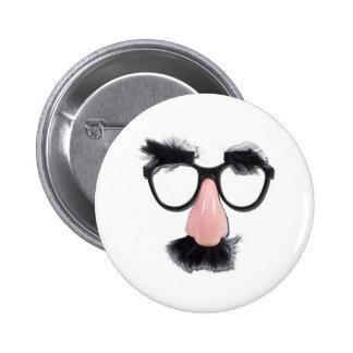 GlassesMustacheEyebrows090411 Pinback Button