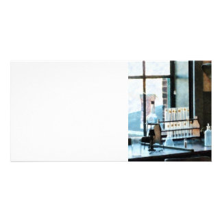 Glassware in Lab Photo Card Template