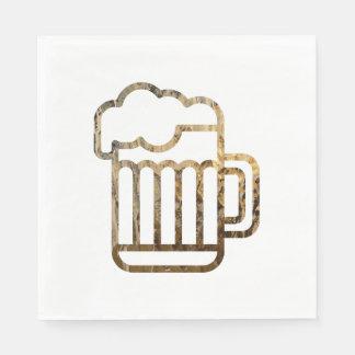 Glassy Beer Napkins Disposable Napkins