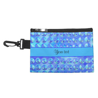 Glassy Blue Beads Accessory Bags