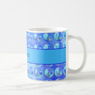 Glassy Blue Beads Classic White Coffee Mug