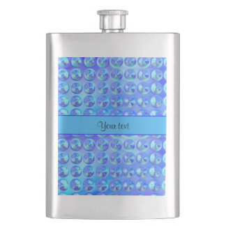 Glassy Blue Beads Flasks