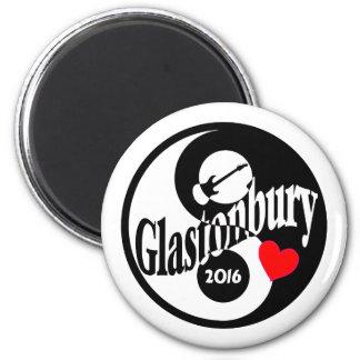 Glastonbury 2016 2 inch round magnet