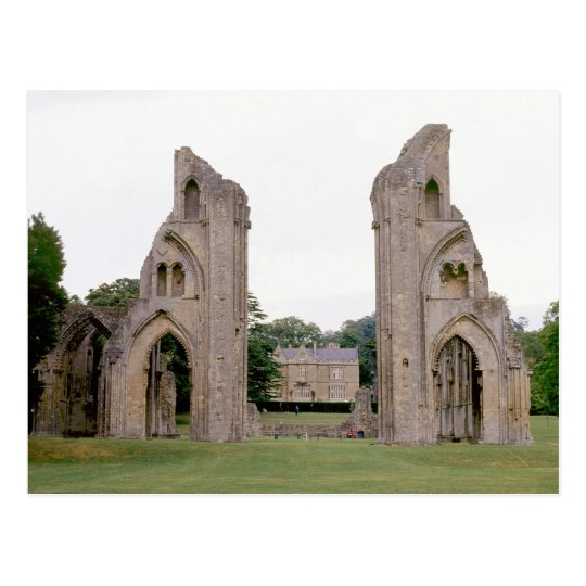 Glastonbury Abbey (1970s) Postcard