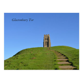 Glastonbury Tor Somerset England Photo Postcard
