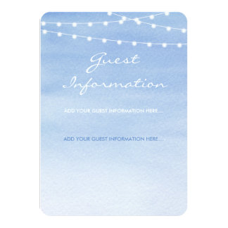 Glaucous Blue Watercolor String Lights Card