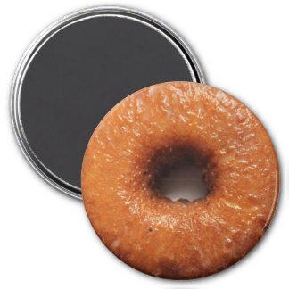 Glazed cake donut round magnet